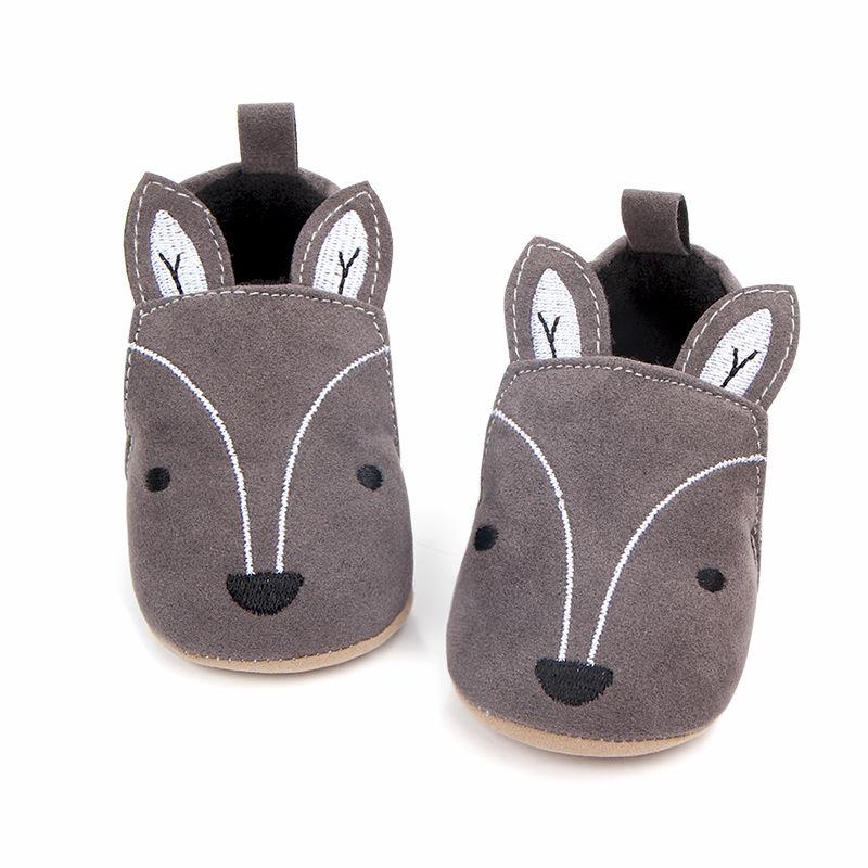 First Walker Anti-slip Sneaker Fox Baby Shoes Toddler Newborn Baby Girl Boy Soft Sole Cute Crib Shoes Slipper
