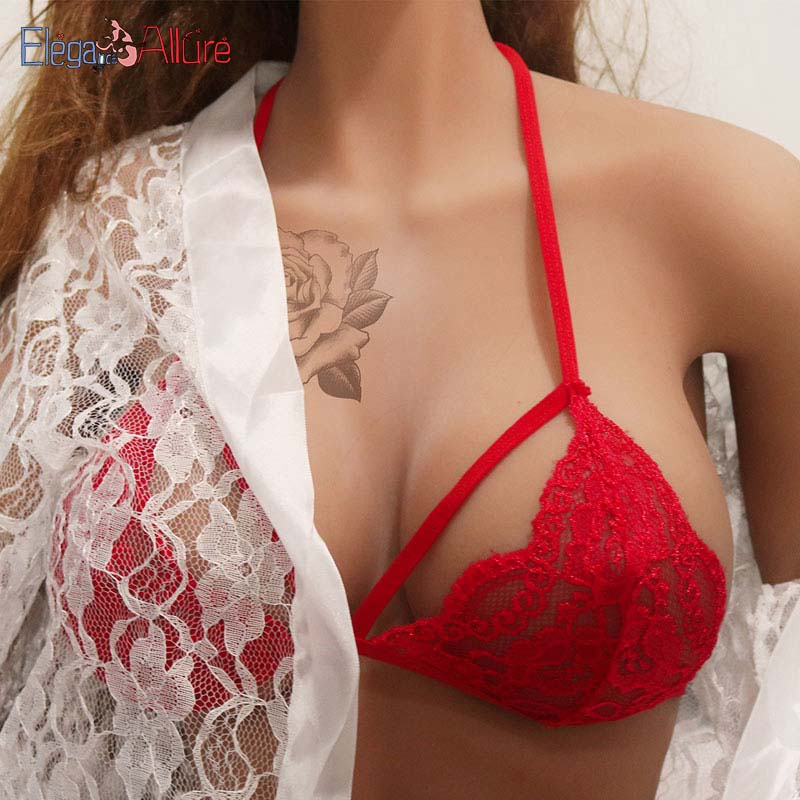 E A Women Bra Sexy Lingerie for Women Erotic Intimate Girl Brassiere Lace Wire Free Bralette Porno Underwear Baby Doll Sleepwear in Babydolls Chemises from Novelty Special Use