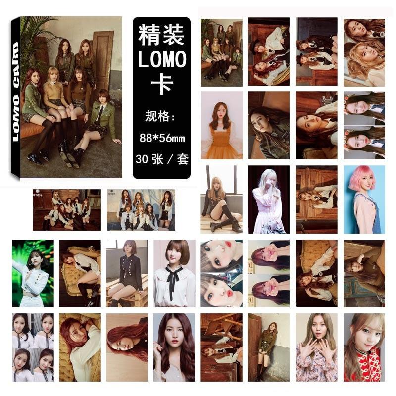 30 stks/set KPOP GFRIEND Team 4 Album De Awakening HD Photo Card PVC Zelf Gemaakt LOMO Photocard