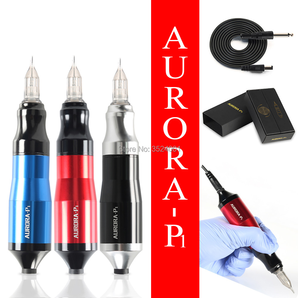 Hot AURORA Motor Tattoo Pen Tattoo Machine Rotary Tattoo Machine Space Aluminum Tattoo Gun Equipment Free