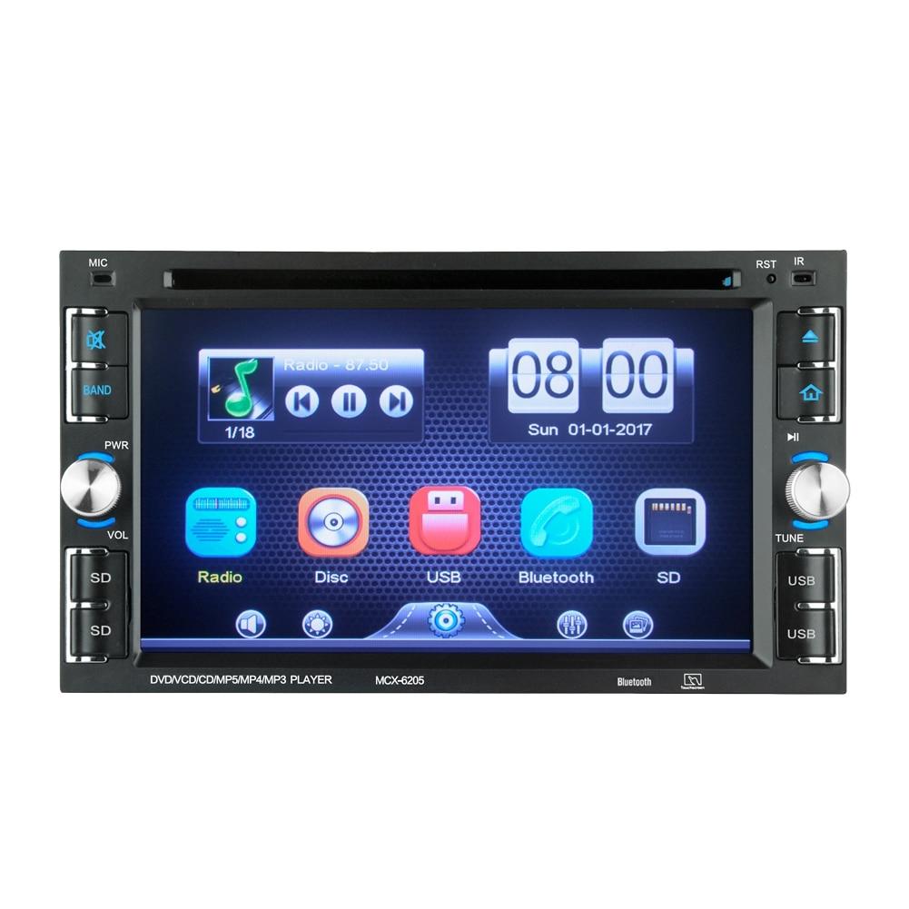 6,2 Zoll 2 Din Autoradio Dvd-player Bluetooth Radio Usb/sd/fm Radio Tragbares Audio & Video