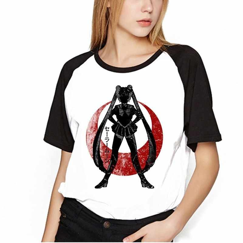 Sailor Mond Shirt Kleidung Tops Frauen Kawaii T-shirts Harajuku Sailor Mond Katze T-shirt Kurzarm Plus Größe T Shirt Femme