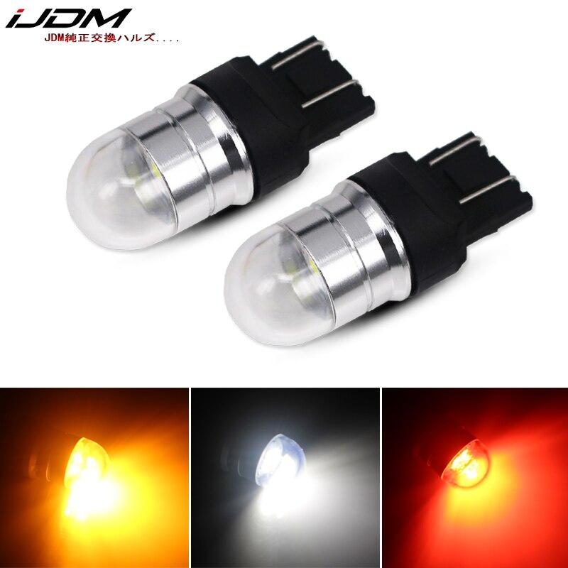 Ijdm carro t20 led w21/5 w 7443 lâmpada led 12 v-30 v para carros motos caminhões freio reverso estacionamento drl luz de nevoeiro lâmpada de backup