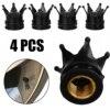 4pcs Black Crown Aluminum Car Wheel Tyre Tire Air Valve Stem Cap Dust Cover For Car Truck Bike Motorcycle ATV discount