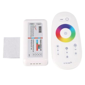 DC12-24V 2 4G ekran dotykowy RGB Strip kontroler LED bezprzewodowy kontroler RGB RF pilot zdalnego sterowania zestawy do domu taśmy kontroli światła tanie i dobre opinie alloet CN (pochodzenie) Touch Screen LED RGB Strip Controller LED Controller rgb controller Wireless RF Remote Control 0 5W