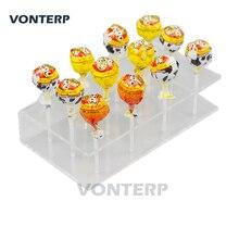 цена VONTERP 1 PC  12 holes Transparent Plexiglass Acrylic Lollipop Display Stand/acrylic lollipop holder в интернет-магазинах