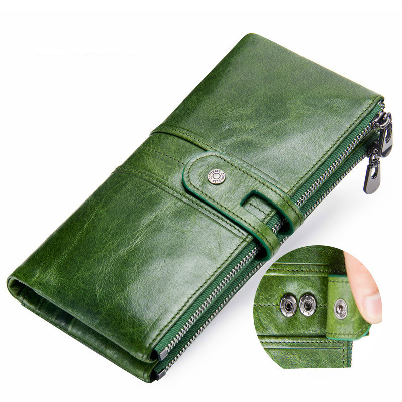 2020 New Fashion Women Cowhide Womens Wallets And Coin Purses Holders Long Men Genuine Leather Purse Holder Mens Woman Wallet