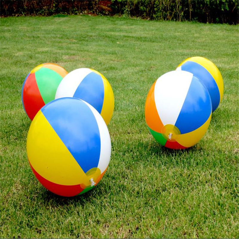 New 23cm Colorful Inflatable Beach Toy Ball Float Water Swimming Play Toys For Children Kids Swim Accessories Pools Water Fun