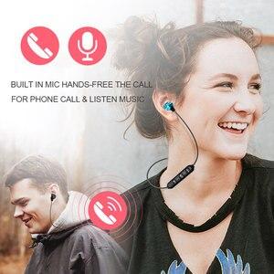 Image 5 - Беспроводные наушники, Bluetooth гарнитура, магнитные наушники, водонепроницаемые спортивные наушники с микрофоном для iPhone, Sony, Xiaomi, Meizu, игровая гарнитура