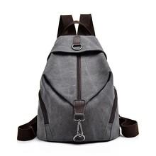 2019 Female Canvas Backpacks For Girls Sac A Dos School Bags For Girl Mochilas Casual Daypack Travel Shoulder Bag Women Backpack