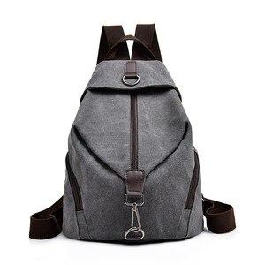 Image 1 - 2019 Kadın Tuval kızlar için sırt çantaları Kese Dos Okul Çantaları Için Kız Mochilas Casual Sırt Çantası seyahat omuz çantası Kadın Sırt Çantası