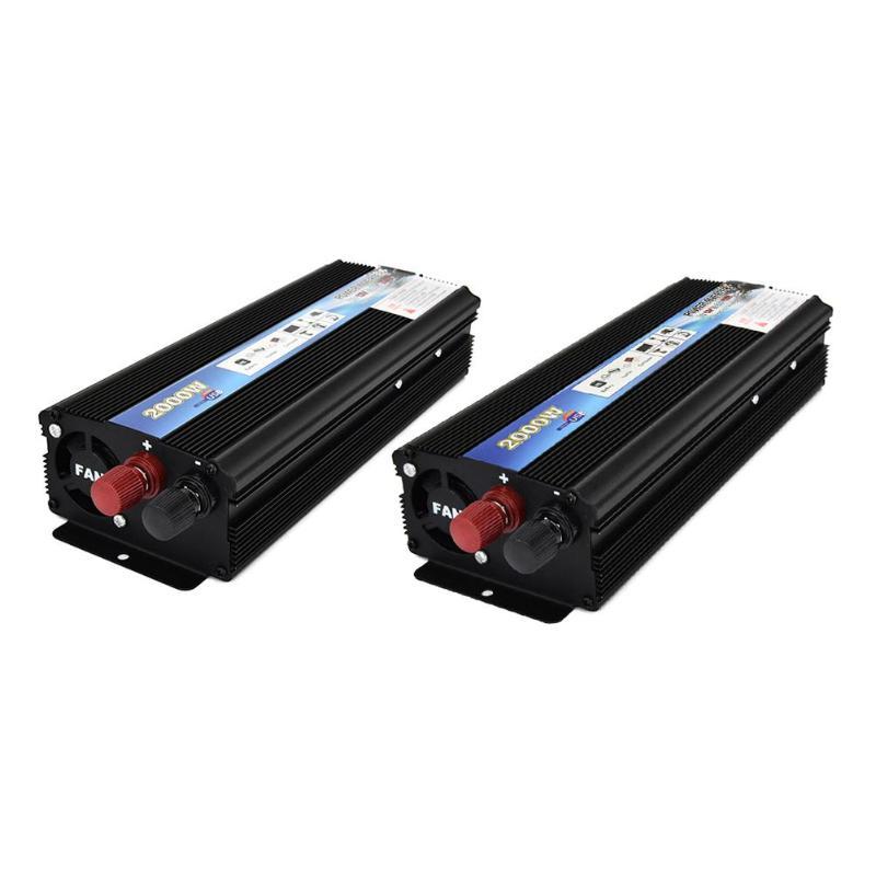 VODOOL 2000W Car Power Inverter DC 12V to AC 110V 220V Modified Sine Wave Auto Power