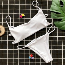 Sexy Micro Thong Bikini Set String Swimwear Women High Cut Swimsuit Female Push Up Backless Bathing Suit Low Waist Swimming Suit