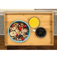 Multi function Bamboo Storage Rack Table Dinner Plate Flexible Bedside Frame For Wine/Book/Food/Soup Storage Holder
