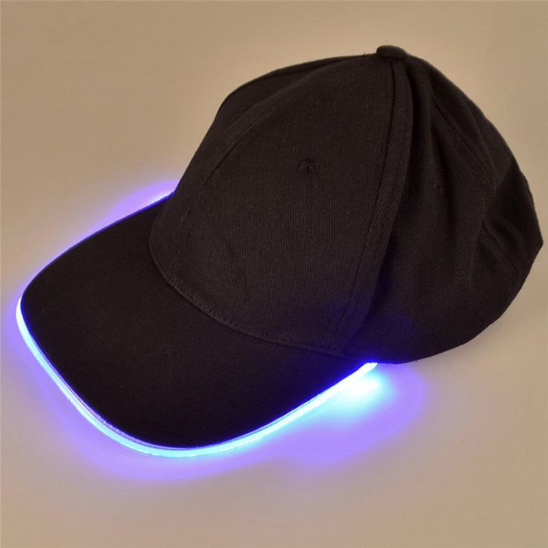 LumiParty Led Lights Fishing Hat Camouflage Cap For Night Fishing Hunting With Batteries Fishing Tackles Fishing Cap