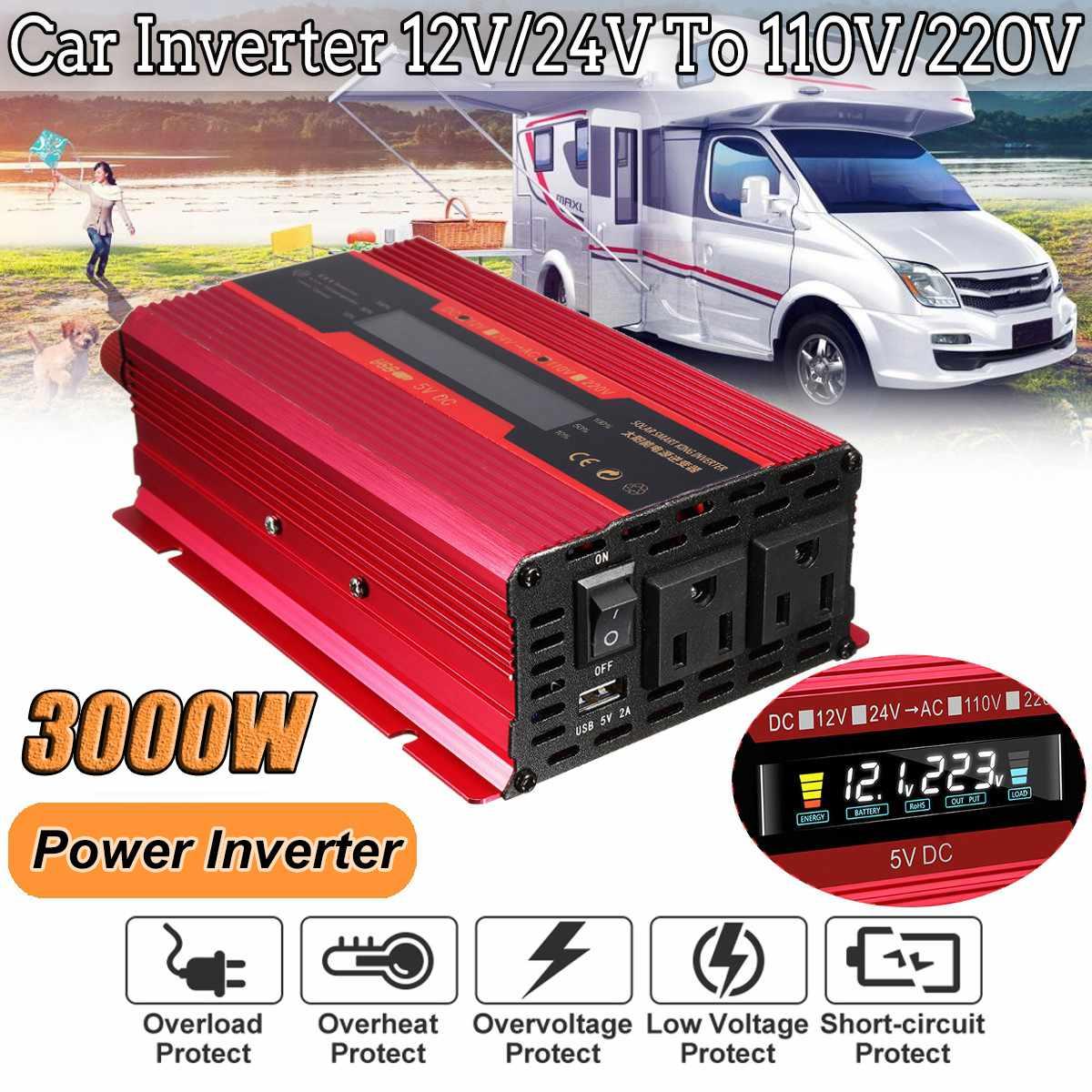 Autoleader Lcd-Display Truck Solar-Power-Inverter 3000W 110V/220V 12v/24v for Car Aluminum-Alloy