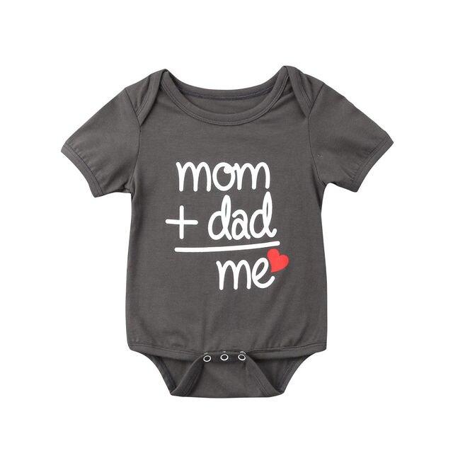 2019 Hot Familie Liefde Pasgeboren Baby Jongen Meisje Kleding Body Korte Mouw Brief Romper Jumpsuit Outfit Moeder Vader Me