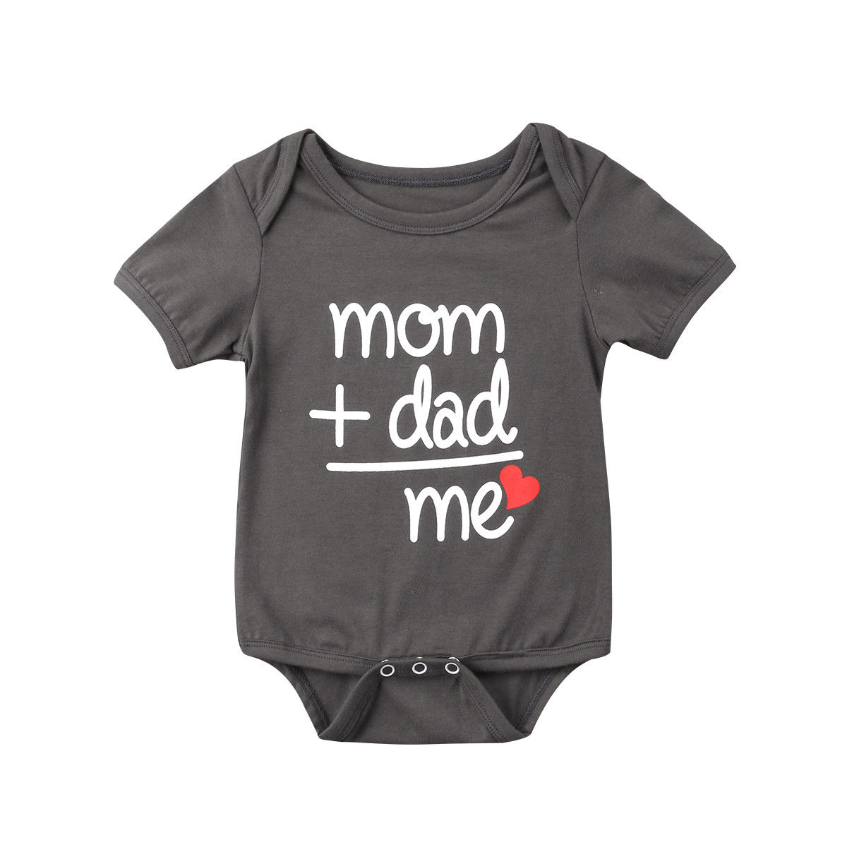2019 Hot Family Love Newborn Baby Boy Girl Clothes Body Short Sleeve Letter   Romper   Jumpsuit Outfit Mom Dad Me