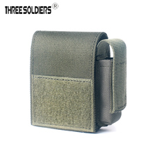 Three soldiers Outdoor cigarette phone running hanging pouch durable waterproof portable zipper molle waist