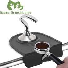 Stainless Steel Smart Coffee Tamper R Shape 58 51mm Flat Tamper Pressure Barista Espresso Tamper Base Coffee Bean Press Grinder
