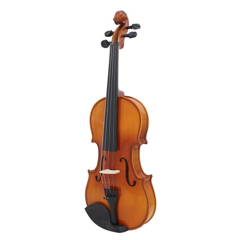 Violon Antique à la main en bois massif violon acoustique à haute brillance avec étui pour enfants enfants apprenant des jouets éducatifs