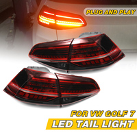 LED Flow Turn Tail Light For VW Golf 7 MK7 2013 2014 2015 2016 2017 7.5 Mk7.5 2018 Taillights Rear Brake Reverse Fog Lamp Drl