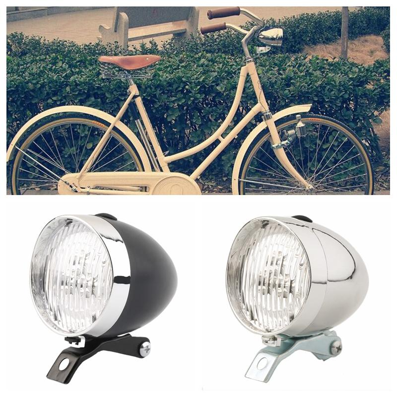 35ff9d694b8 Weimostar Retro Bicycle Bike 3 LED Front Light Waterproof Headlight Vintage  Metal Flashlight Lamp Bicycle Headlight with Bracket