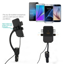 Phone Holder Mount Qi Cigarette Lighter Car Charger Multifunction Universal Dual USB Wireless Charging &1124