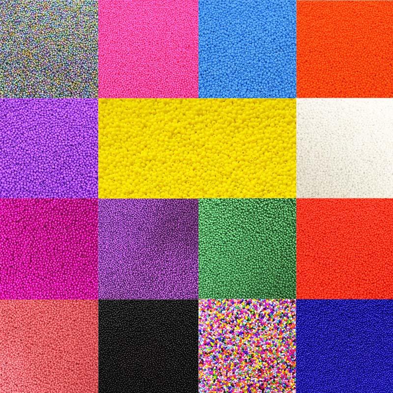Venda novos acessórios de jóias 1000 pçs de alta qualidade para diy colar pulseira grânulo de vidro real solta grânulos coloridos