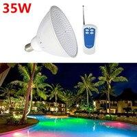35W PAR56 RGB LED Pool Light 12V AC110V 120V/220V Swimming Pool LED Light Remote Controller Underwater Lights Lamps