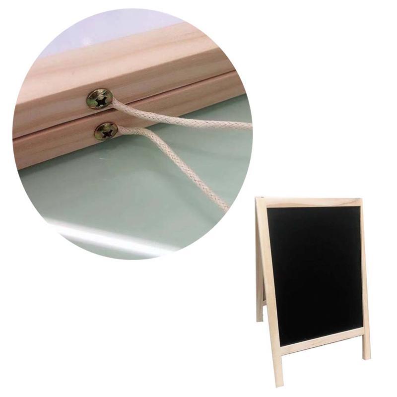 1 PC Desktop Schoolbord Dubbelzijdige Schildersezel Magnetische Rechthoekige Houten Blackboard Voor Plaats Tag Message Board Schrijven Boards