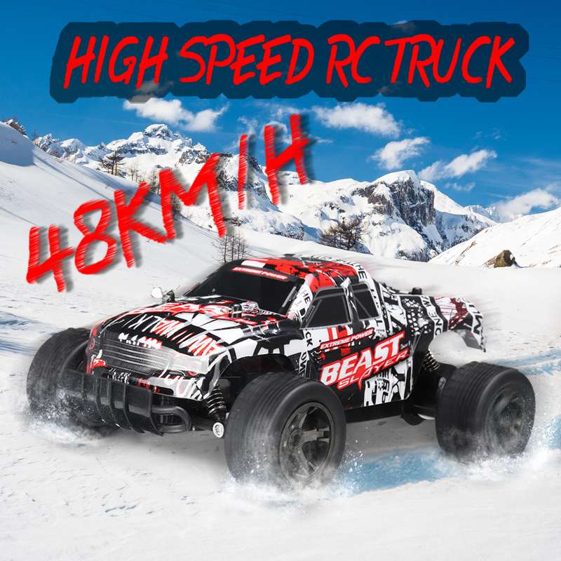 RC Car 48KM/H 2.4ghz 1:20 4WD Remote Control High Speed Truck Electric Truck OffRoad Vehicle 4x4 Driving Car Vehicle Toy image