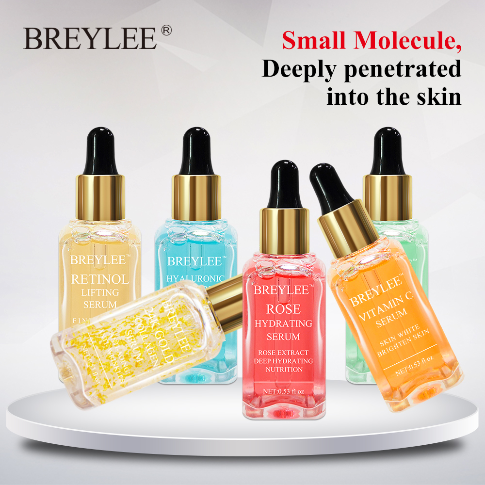 Breylee Serum Face Facial Series Hyaluronic Acid Collagen Vitamin C Whitening Lifting Firming Anti-aging Wrinkle Skin Care 6pcs
