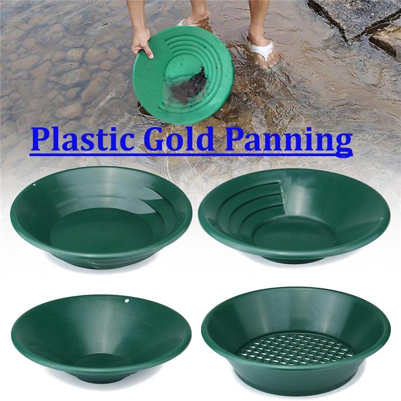 лучшая цена 4Pcs/Set Gold Pan Panning Classifier Mesh Screen Mining Sifter Metal Detecting Kit Screening Gold Pan Panning Classifier Tool