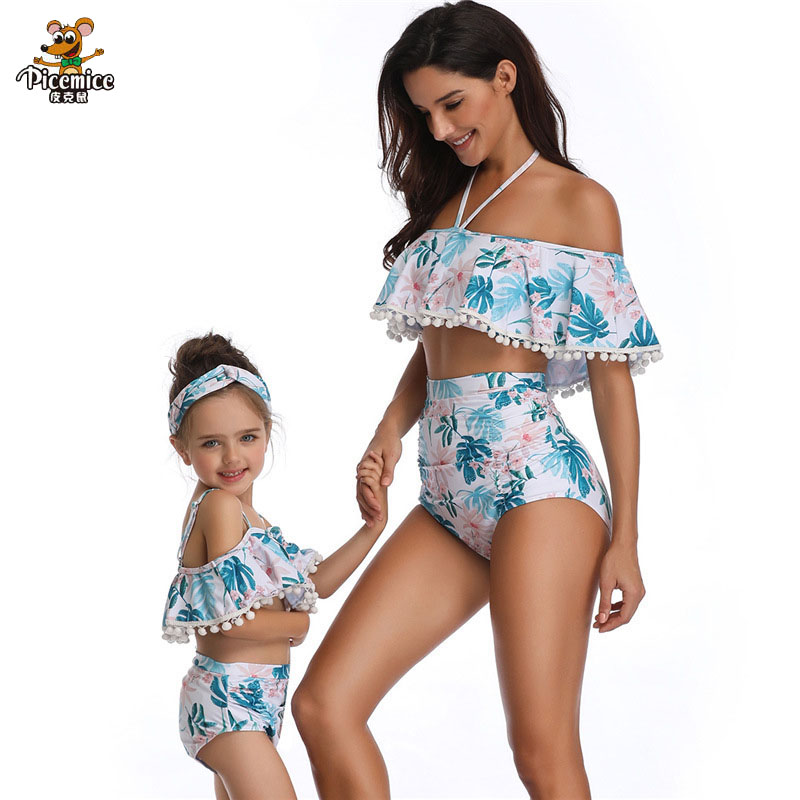 2019 Summer season Household Swimsuit Mom Daughter Swimwear Bikini Matching Outfits Mommy Garments Mother Excessive Waist Bikinis Matching Household Outfits, Low cost Matching Household Outfits, 2019 Summer season Household...