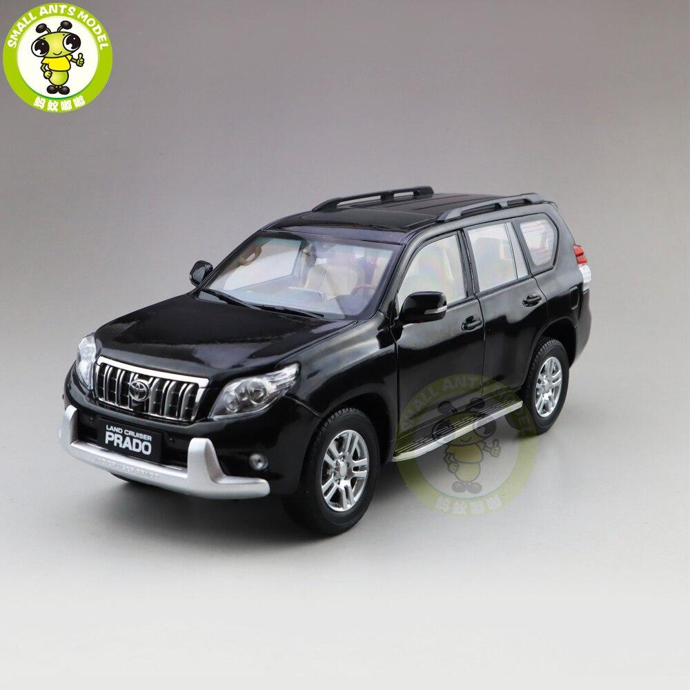 1/18 Toyota Land Cruiser Prado moulé sous pression SUV voiture modèle jouets enfants garçon fille cadeaux collection passe-temps noir