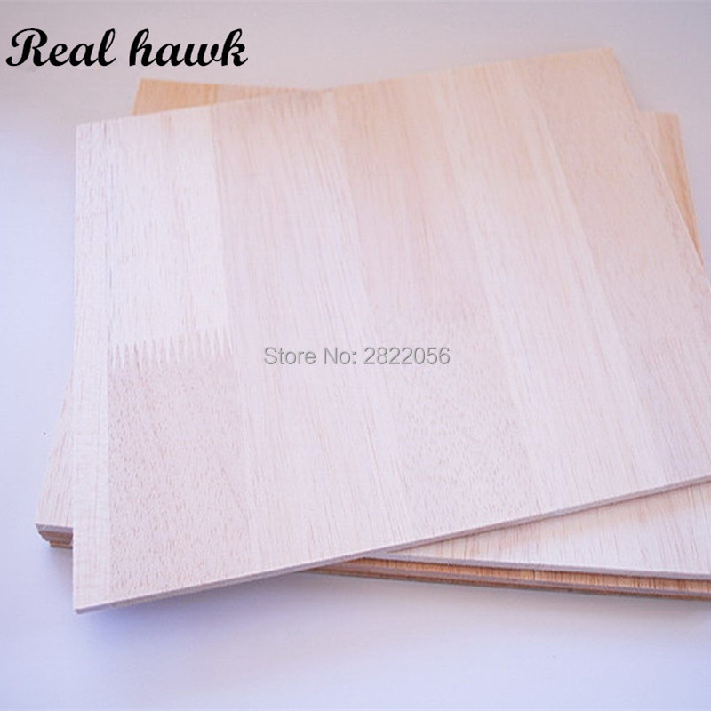 200x200mm Thickness 2/3/4/5/6mm AAA+ Balsa Wood Sheet PlyWood Puzzle Thickness Super Quality For Airplane/boat DIY