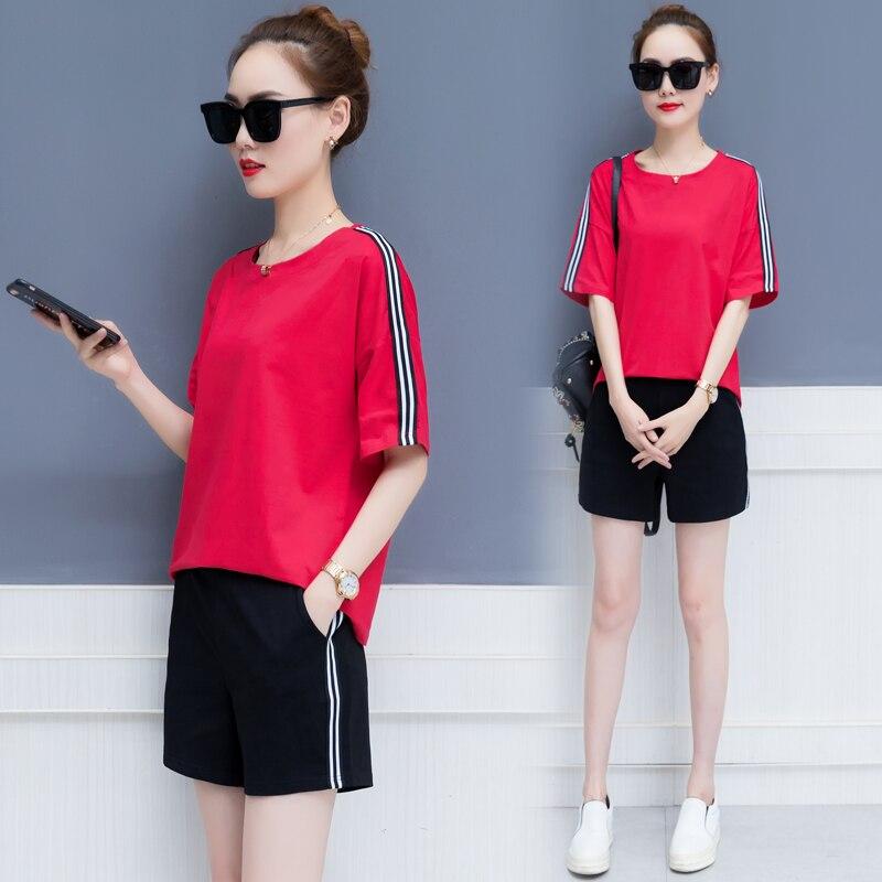 d48eb6b2f Cheap Trajes de ocio mujeres 2019 verano nueva moda coreana hermana de dos  piezas top y