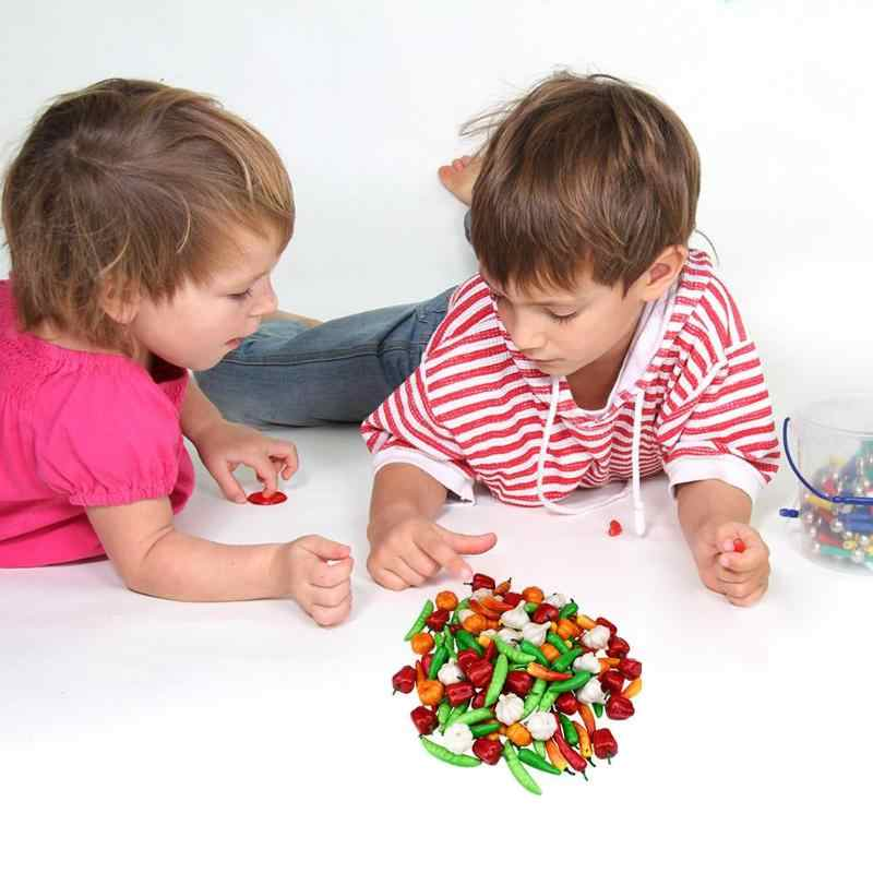 7 tipos De Mini Alho Pimenta Abóbora Vegetal Artificial Falso Fruto de Simulação Pretend Play Corte Conjuntos de Decoração da Casa de Brinquedo
