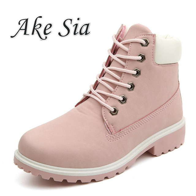HOT New 2017 Autumn Early Winter Shoes Women Flat Heel Boots Fashion Women's Boots Brand Woman Ankle Botas Hard Outsole F291
