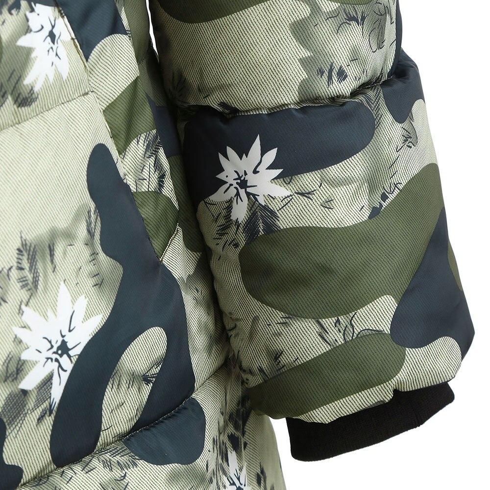 Manteau Capuche Chaud Femmes Multi Rembourré Camouflage Anorak Hiver x10Xvqvf