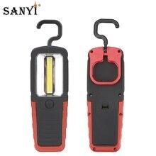 Lámpara de Trabajo Portátil COB LED, linterna magnética plegable con gancho colgante para emergencia, reparación de Camping, uso doméstico