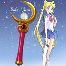 Sailor Moon Usagi Tsukino Cosplay magiczna różdżka księżniczka Serenity kij japonia Anime ręcznie rekwizyty dla kobiet dziewczyna tanie tanio CN (pochodzenie) Różdżki WOMEN Resin Kostiumy total length is 27 5cm(10 8inch) acrylic 0 2kg (0 44 lbs)
