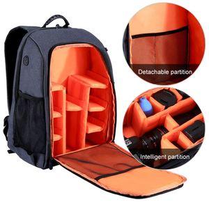 Image 2 - PULUZ extérieur Portable imperméable à leau à lépreuve des rayures double épaule sac à dos caméra accessoires sac numérique DSLR Photo vidéo sac