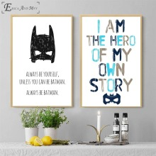 Alphabet Batman Quote Canvas Painting Posters And Prints For Living Room No Framed Wall Art Picture Home Decor On Sale цена