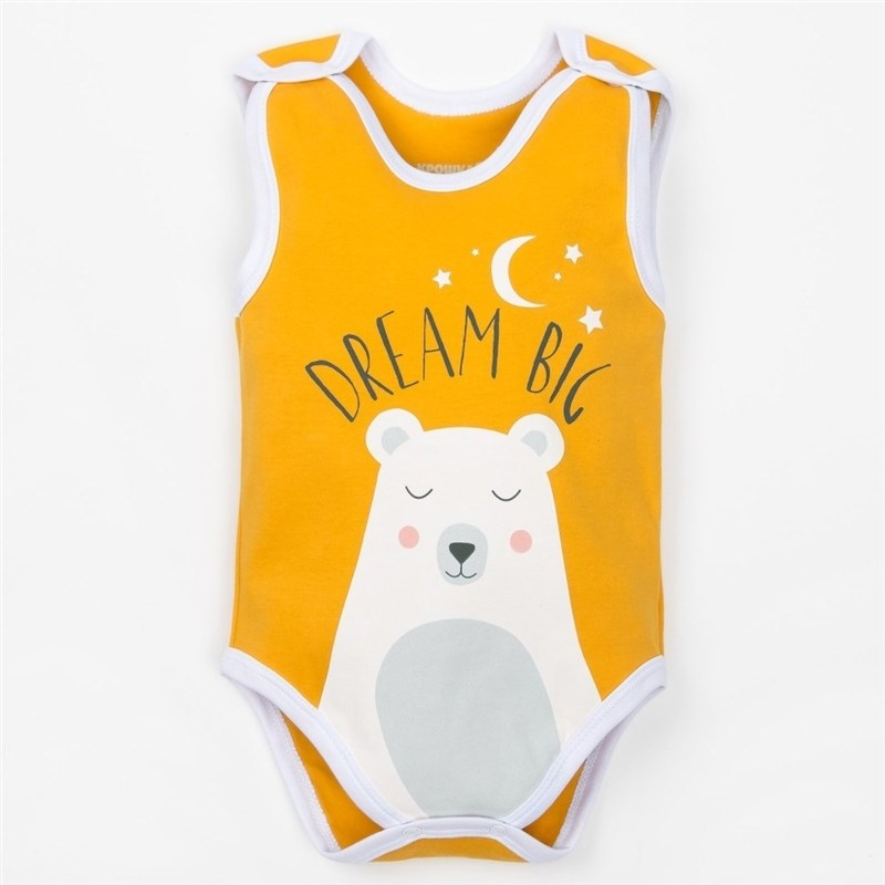 Bodysuit baby Bear criss cross lace up bodysuit