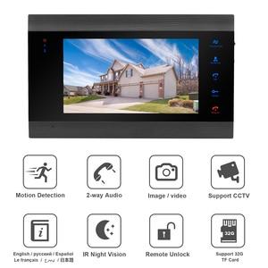 Image 2 - HomeFong Telefone Video Da Porta Vídeo Porteiro Com Fio para o Sistema de Segurança Em Casa com Monitor 2 1 Campainha Câmera de Detecção De Movimento de Gravação