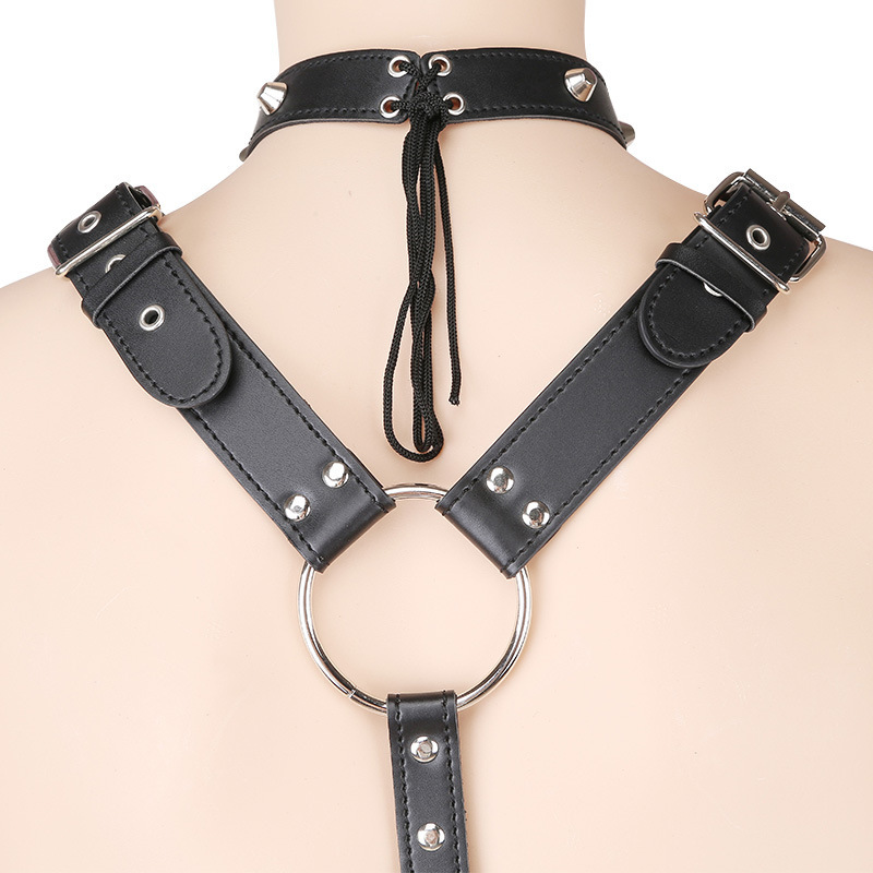 PU Leather Male Body Harness Chest Belt Clubwear Erotic Costumes Men Sexy Lingerie Fetish Sex Bondage Restraint Harness