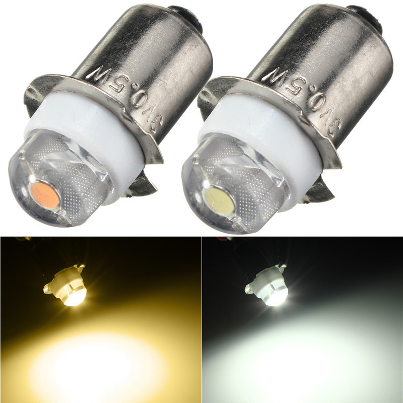 LED Light Bulb DC3V 6V P13.5S PR2 0.5W LED  Warm White For Flashlight Replacement Bulb Torches Work Light Lamp 60-100Lumen