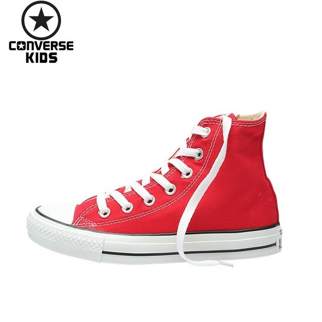3bb068ee700 CONVERSE Children s Shoes Classic Fund High Help Canvas Girl Red Casual  Parenting Canvas Shoes  101013